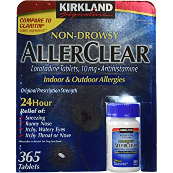 Kirkland Signature Non Drowsy Allerclear Loratadine Tablets, Antihistamine, 10mg, 365-Count Personal Healthcare/Health Care