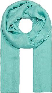 MANUMAR Schal für Damen einfarbig | Hals-Tuch in Uni-Farben als perfektes Sommer- Accessoire | Klassischer Damen-Schal | Stola | Mode-Schal | Geschenkidee für Frauen und Mädchen