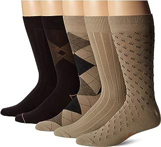 Men's Classics Dress Argyle Crew Socks, (Pack of 5)