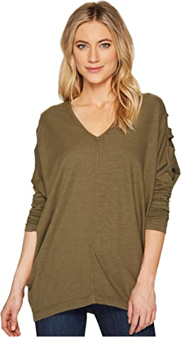HEATHER - Valerie Ladder Sleeve Top