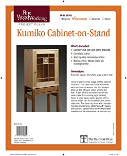 Fine Woodworking's Kumiko Cabinet-on-Stand Plan (Fine Woodworking Project Plans)