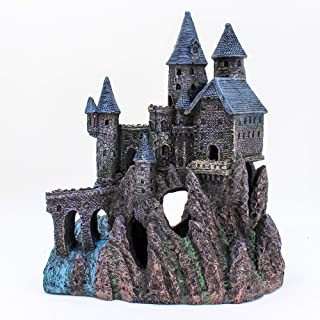 Penn-Plax Castle Aquarium Decoration Hand Painted with Realistic Details Over 14.5 Inches High Part B