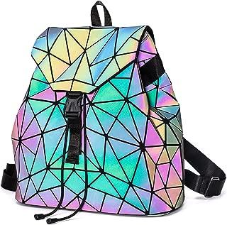 Geometric Backpack Luminous Backpacks Holographic Reflective Bag Lumikay Bags Irredescent Rucksack Rainbow NO.2
