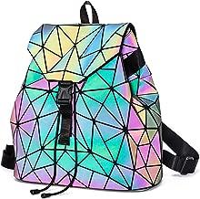 Laser Festival Rave Bag Geometric Lingge Backpack Luminous Reflective