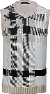 Xposed Mens Sleeveless Jumper V Neck Sweater Retro Smart Casual Slim FIt Tank Top Jersey Vest