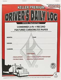 J.J. Keller 8530 2-in-1 Driver's Daily Log Book with Detailed DVIR