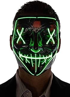 Men's Light Up Purge Mask
