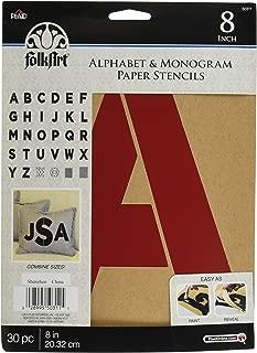 Plaid Stencil Folk-Art Paper Alphabet & Monogram Bold 8