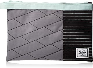 Herschel Network Large Unisex Wallet, Light Grey Crosshatch/Black/Glacier