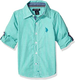 U.S. Polo Assn. Boys' Long Sleeve Gingham Woven Shirt
