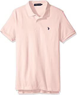 Mens Classic Small Pony Solid Pique Polo Shirt