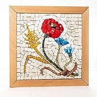 Mosaico Quattro Stagioni Estate - Kit quadro fai da te - 23x23 cm - tessere mosaico marmo/vetri di Murano - Idea regalo...
