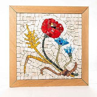 Mosaico Quattro Stagioni Estate - Kit quadro fai da te - 23x23 cm - tessere mosaico marmo/vetri di Murano - Idea regalo do...