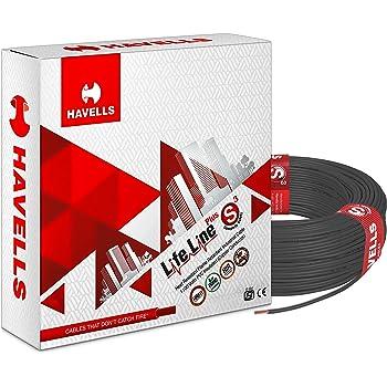 Havells Life Line Plus S3 1 sq mm PVC HRFR Cable (Black)