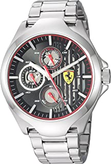 Ferrari Men's 'Aero' Quartz Stainless Steel Casual Watch, Color Silver-Toned (Model: 0830508)