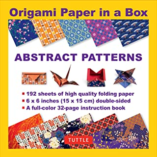 Origami Paper in a Box - Abstract Patterns: 192 Sheets of Tuttle Origami Paper: 6x6 Inch High-Quality Origami Paper Printed with 10 Different Patterns: 32-page Instructional Book of 4 Projects