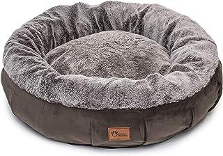 Superior Pet Goods Harley Faux Rabbit Fur and Velvet Dog Bed, Brown, Medium
