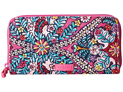 Vera Bradley Iconic RFID Georgia Wallet (Kaleidoscope) Wallet Handbags