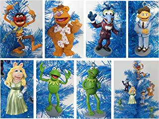 The Muppets Set of 7 Holiday Christmas Tree Ornaments Featuring Kermit the Frog, Miss Piggy, Fozzie, Gonzo, Animal and Walter - 3