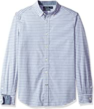 Nautica Long Sleeve Horizontal Stripe Button Down Shirt