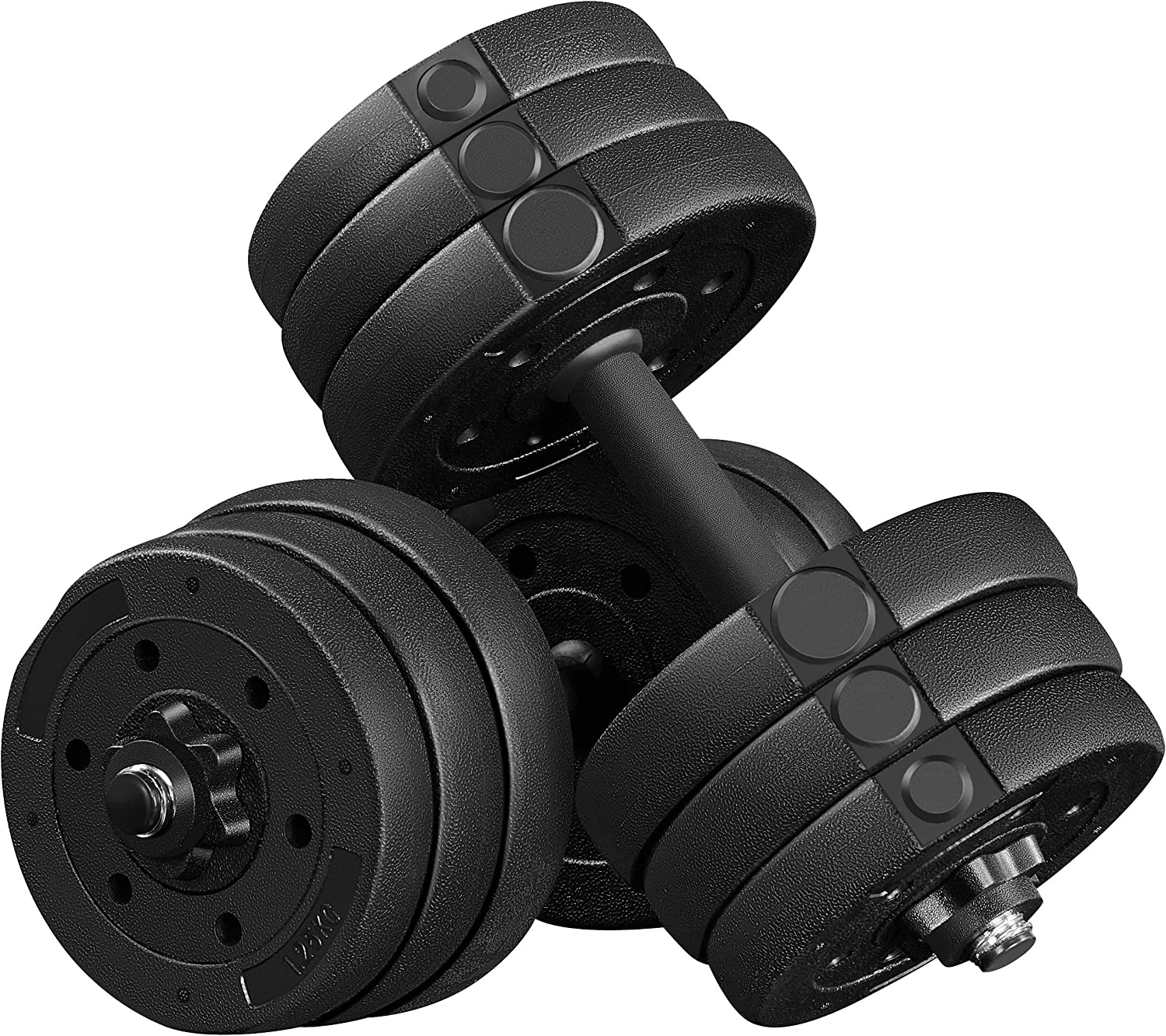 YAHEETECH 44LB Adjustable Long Beach Mall Dumbbell Fitness Weights Exercise Eq Save money