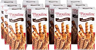 Pirouline Rolled Wafers, Dark Chocolate 3.25oz cartons Pack of 12