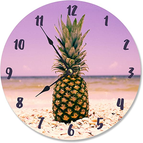 Stupell Industries Pineapple On The Beach Vanity Clock Proudly Made In USA