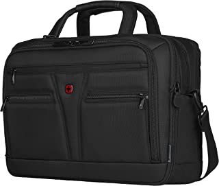 """Wenger Expandable 14""""- 16"""" Laptop Briefcase with Tablet Packet  Black 606465"""