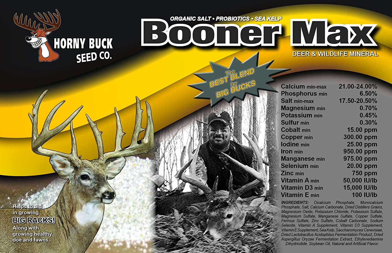 Horny Buck Seed Ranking TOP1 Co. Direct stock discount Booner Max Deer Wildlife Attractant Mineral