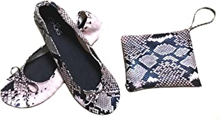 Shoes 18 Women's Foldable Portable Travel Ballet Flat Shoes w/Matching Carrying Case