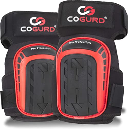 COGURD Professional Gel Knee Pads for Work Construction, Gardening, Cleaning, Flooring and Garage - Heavy Duty Suppor...