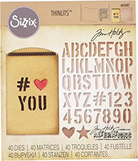 Sizzix, Multi Color, Thinlits Die Set 662687, Gift Card Bag by Tim Holtz, 40 Pack, One Size
