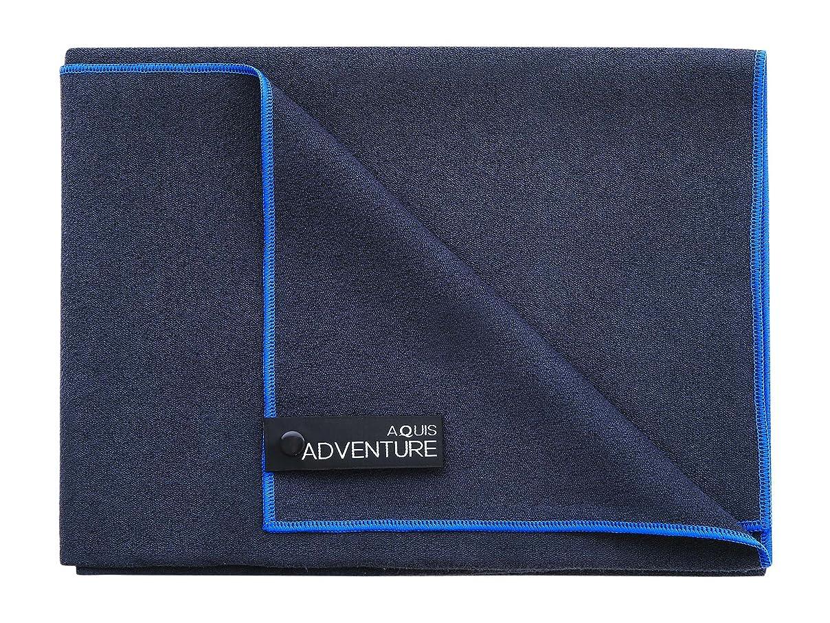 ライバル驚かす開発Aquis Adventure Mediumタオル?–?avg7130 X-Large ブラック AVG2030BKB