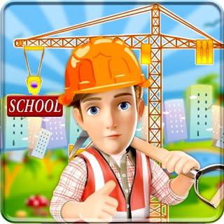 School Building Construction Site: Builder Game city Paint town girl renovate simulator 2019