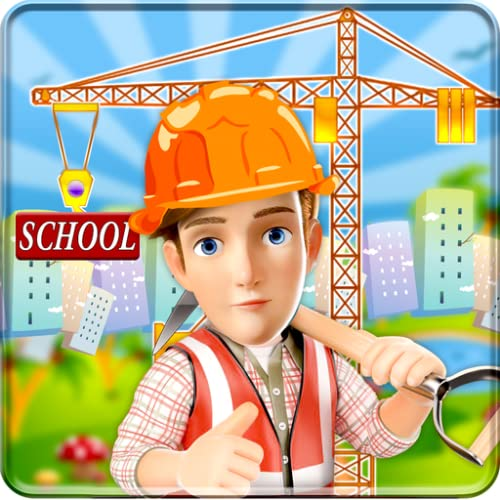 School Building Construction Site: Builder Game city Paint town girl renovate simulator 2019