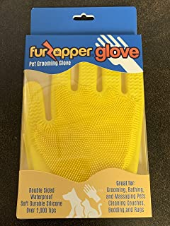 FURZAPPER Pet Grooming Gloves For De-Shedding Grooming Bathing & Cleaning Fabric