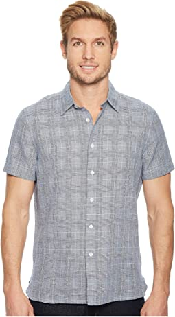 Perry Ellis - Glen Plaid Linen Shirt