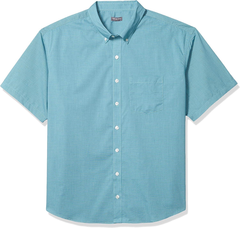 Van Heusen Soldering Time sale Men's Big and Tall Sleeve Button Short Down Chec Flex