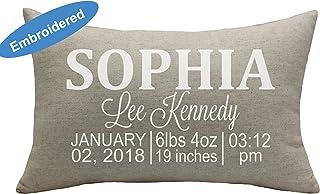 YugTex Cushion Cover Birth Announcement Pillowcase, Custom Birth Pillowcase, Personalized Pillow, Baby Shower Gift, Personalized Baby pillow Cover,new born baby Pilowcase,Nursery Pillowcase