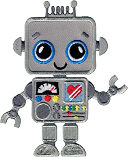 PatchMommy Robot Patch, Iron On/Sew On - Appliques for Kids Children