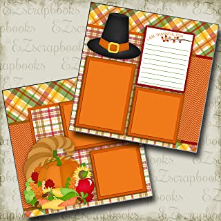 THANKFUL FOR - Premade Scrapbook Pages - EZ Layout 2344