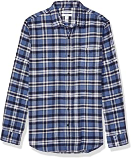 SportsX Mens Premium Long Sleeve Hot Stamping No-Iron Flannel Shirts