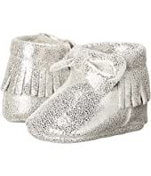 Baby Deer - Metallic Bow Moccasin (Infant)