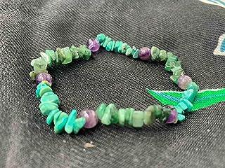 Braccialetto di litoterapia ametista smeraldo che rafforza il braccialetto