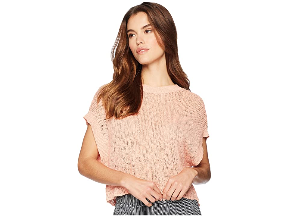 Jack by BB Dakota Nadia Back Lace-Up Sweater (Coral Pink) Women