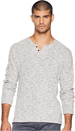 Wintz Long Sleeve Melange Thermal Henley