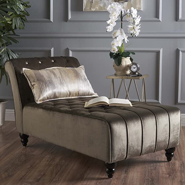 Christopher Knight Home 301263 Rubie Chaise Sofa Grey