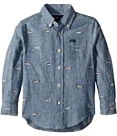 Polo Ralph Lauren Kids Linen-Cotton Chambray Shirt (Toddler)