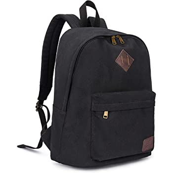 Canvas School Laptop Backpack, Durable Rucksack, Travel Notebook Bag, for Men Women