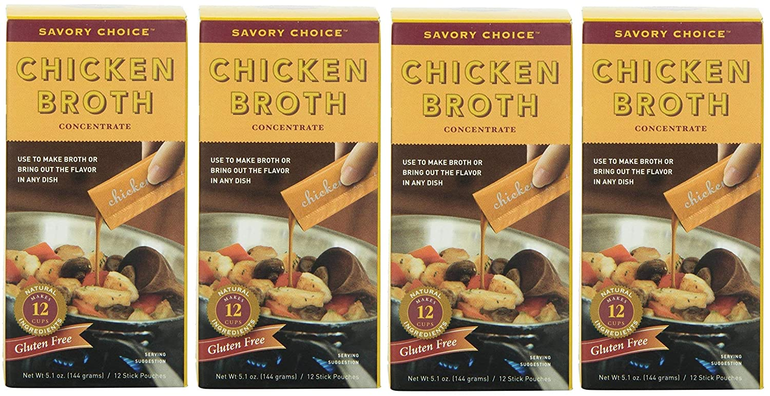 Savory Choice Chicken Max 62% OFF Broth 70% OFF Outlet Concentrate Pack Boxes o 5.1-Ounce